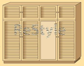 Двери жалюзи для шкафа